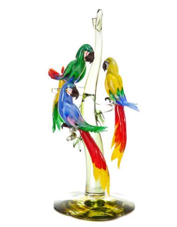 Perroquets en verre de Murano Artemest