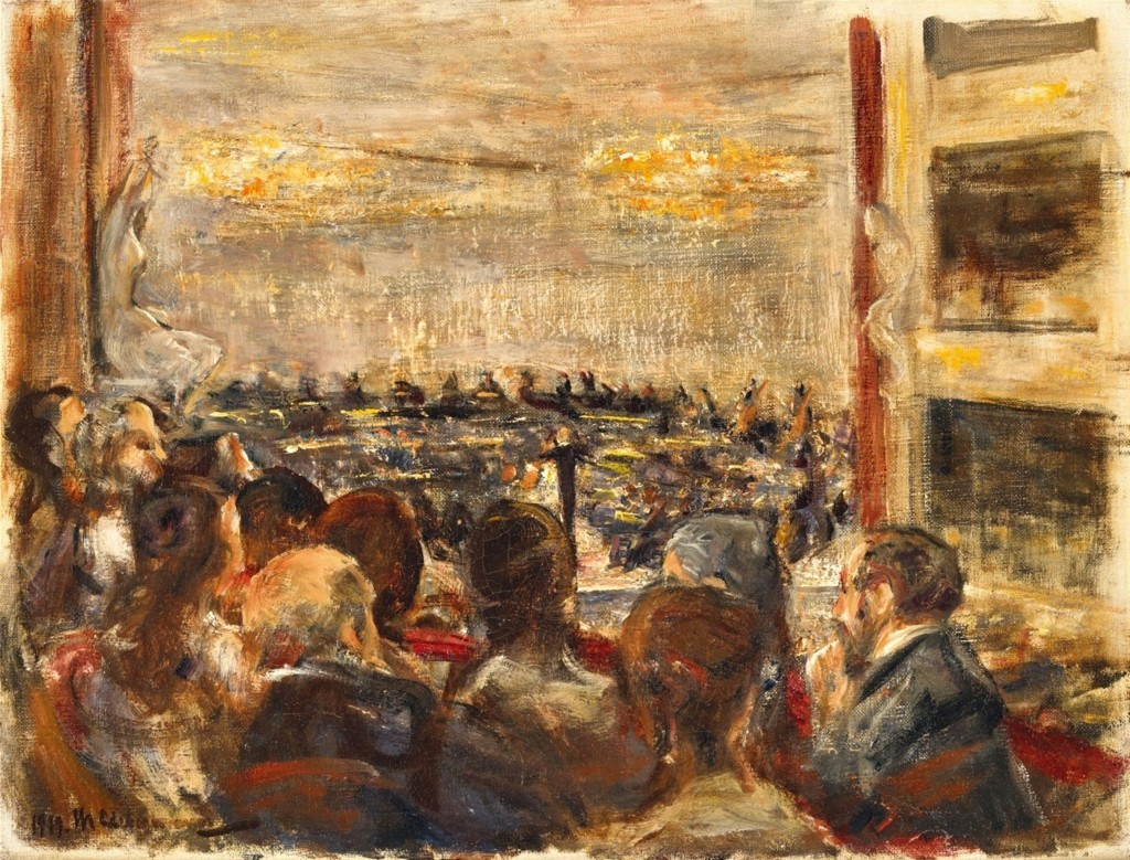 MAX LIEBERMANN (1847 - Berlin - 1935) - Concerto in the opera, oil / canvas, 38.5 x 50.5 cm, signed and dated, 1919