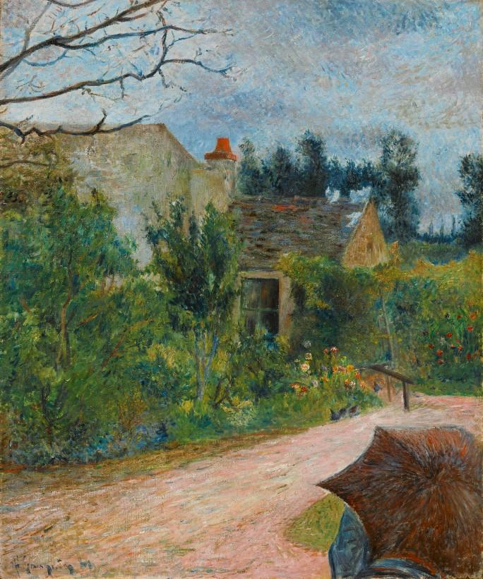 Paul Gauguin, Le Jardin de Pissarro, Quai du Pothuis à Pontoise, 1881 | Foto: ©Sotheby's