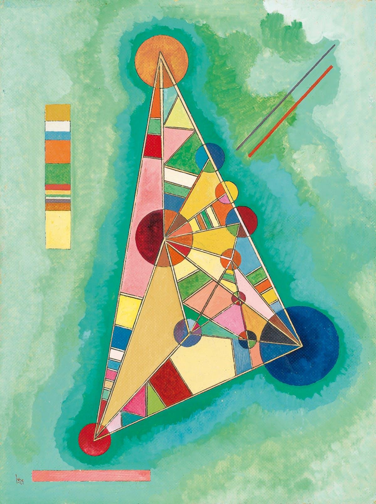 Bunt im Dreieck, 1927. Bild Sotheby's