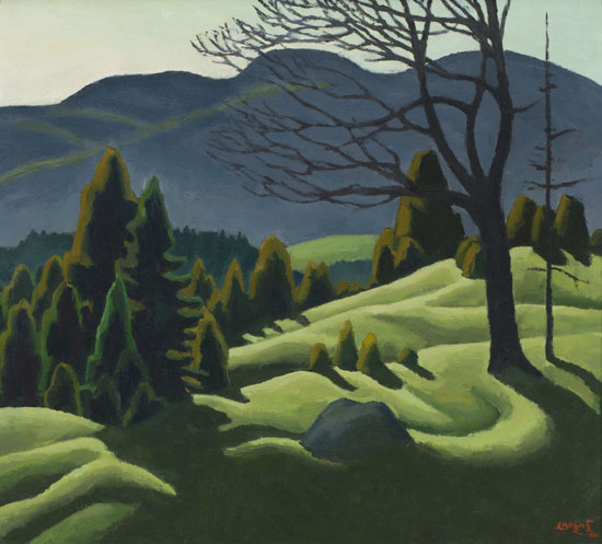 """""""Twilight in June,"""" by Edwin Headley Holgate, via Heffel"""