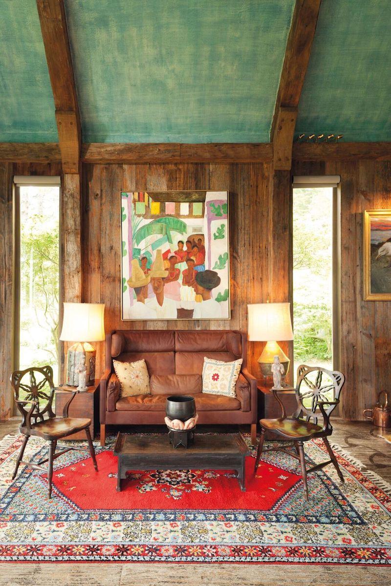 Målningen i paret Rockfellers vardagsrum i Maine