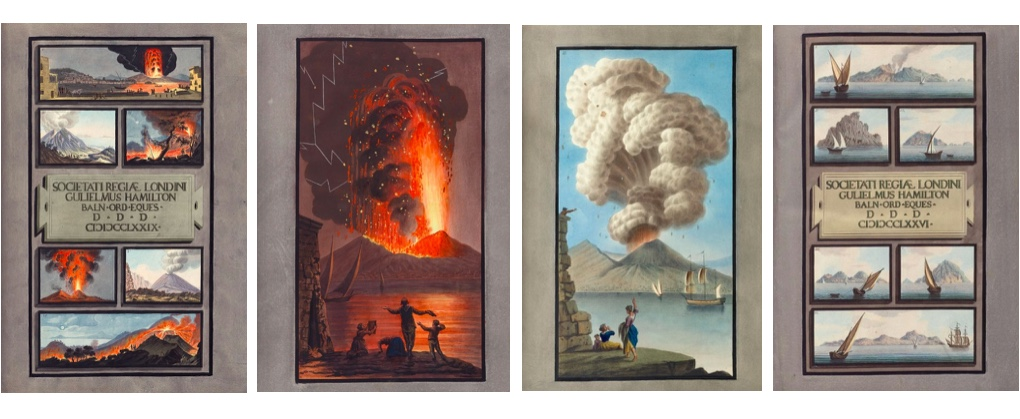 WILLIAM HAMILTON - Campi Phlegraei, zwei Teile und Supplement, Neapel, Pietro Fabris, 1776-1779, erste Ausgabe