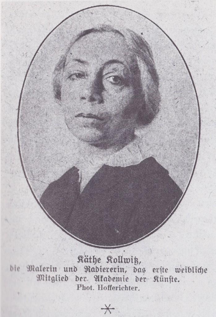 Photographie de Käthe Kollwitz lors de l'année se sa nomination à l'Académie des Arts Prusse.