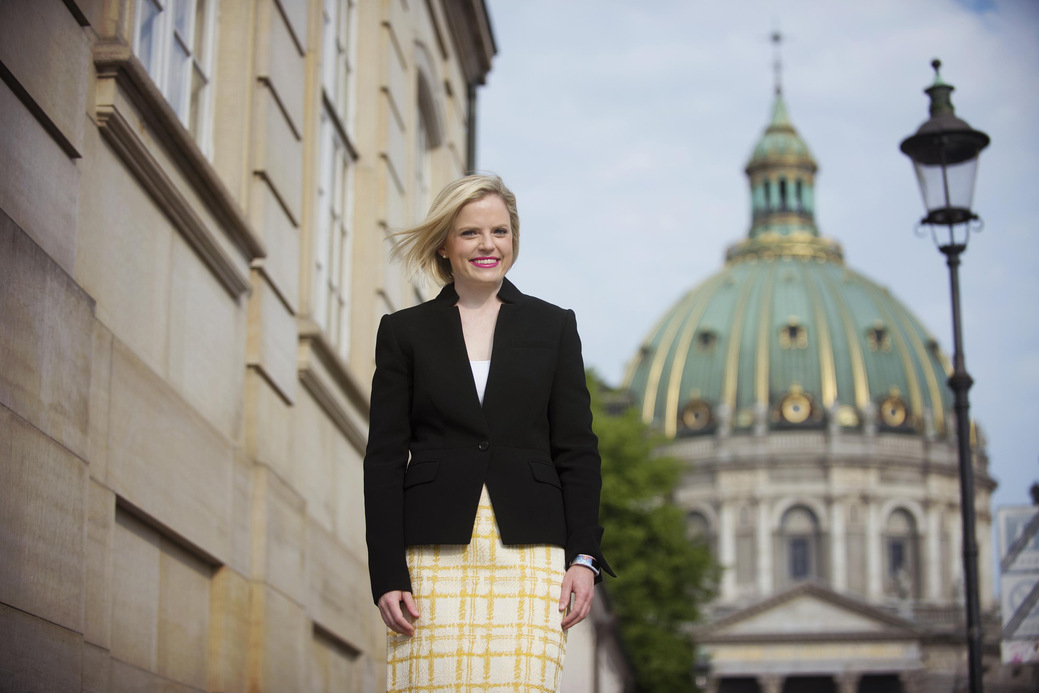 Jennifer Klos in Copenhagen. Photographed by Flytographer
