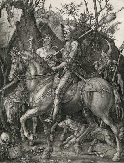 Dürer, Albrecht. (1471 Nürnberg 1528). Der Reiter (Ritter Tod und Teufel). Schätzpreis: 90 000 EUR. Kiefer