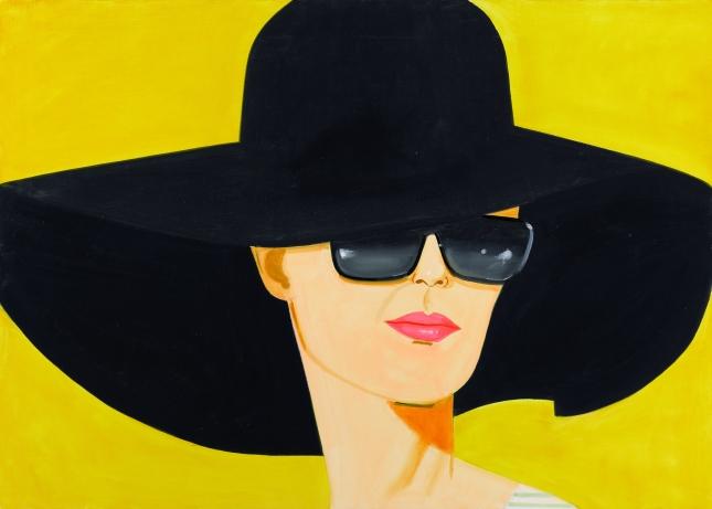 Alex Katz, Black Hat (Bettina) 2010, Oil on linen Private Collection, London © Alex Katz/Licensed by VAGA, New York, NY Image courtesy Galerie Thaddaeus Ropac, Paris - Salzburg