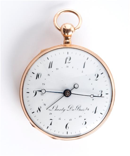 L'HARDY DU BOIS - pocket watch in yellow gold with enamel dial, Neuchâtel, Switzerland 1820 Estimate: 6 000-8 000 EUR