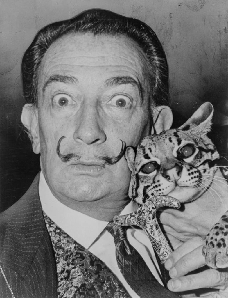 Salvador Dalí und sein Ozelot Balou