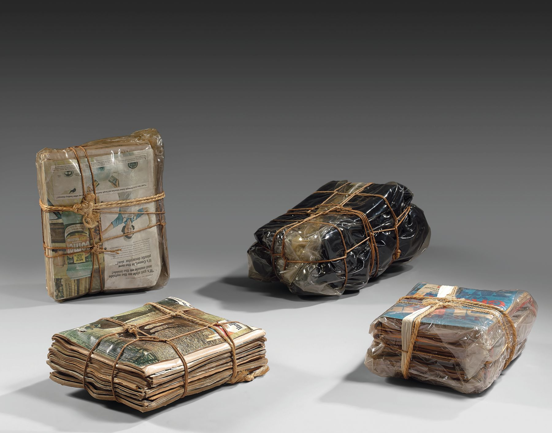 Christo Wrapped magazines & wrapped cloth, 1967