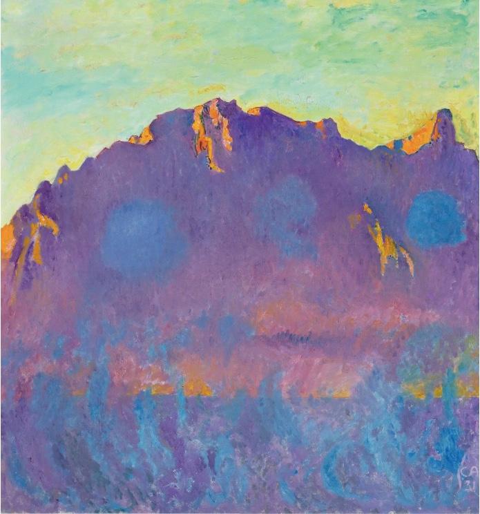 CUNO AMIET (Solothurn 1868 - 1961 Oschwand) - Sicht auf das Stockhorn, Öl/Lwd., 98 x 91 cm, monogrammiert und datiert, 1931 Schätzpreis: 350.000-450.000 CHF (324.070-416.670 EUR)
