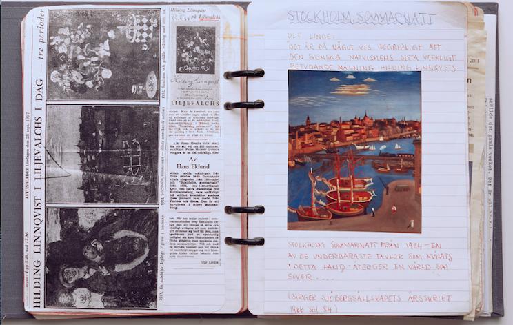Säljarens egna anteckningsböcker har hjålpt till vid katalogiseringen av samlingen