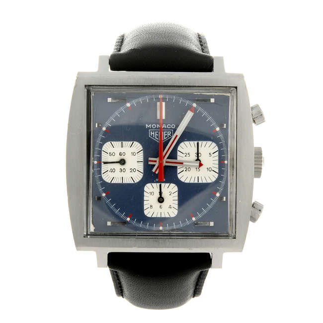 Le chronographe TAG Heuer Monaco Vintage est estimé 2 500 livres sterling par les experts de Fellows