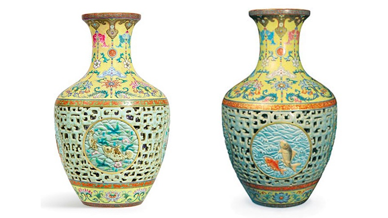Links die Yamanaka-Vase, rechts die Bainbridge-Vase (beide Foto via via Antiques Trade Gazette)
