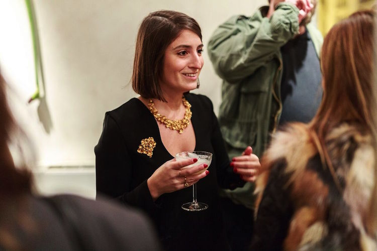 Saskia Neuman är global konstchef för The Absolut Company och även kvällens värdinna