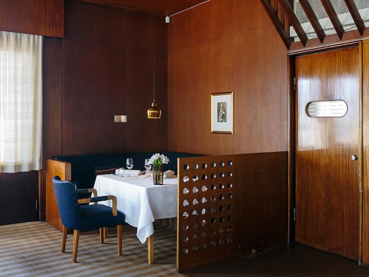 Restaurang Savoy i Alvar Aalto-design.