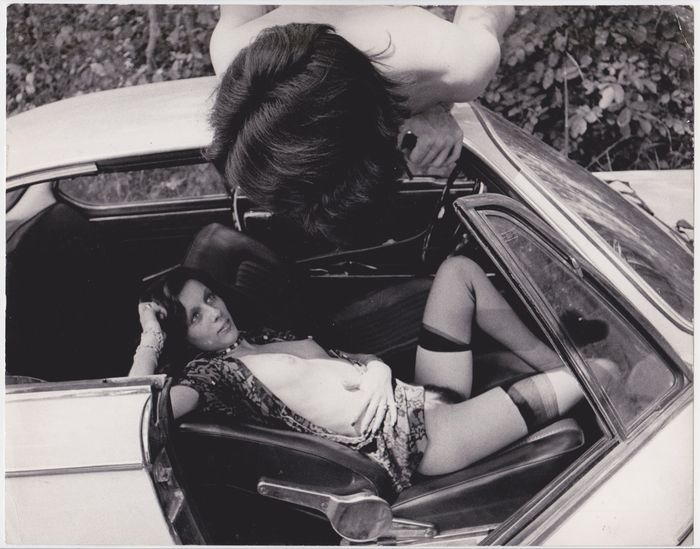 Unknown photographer, Nude scene with car, 1970s