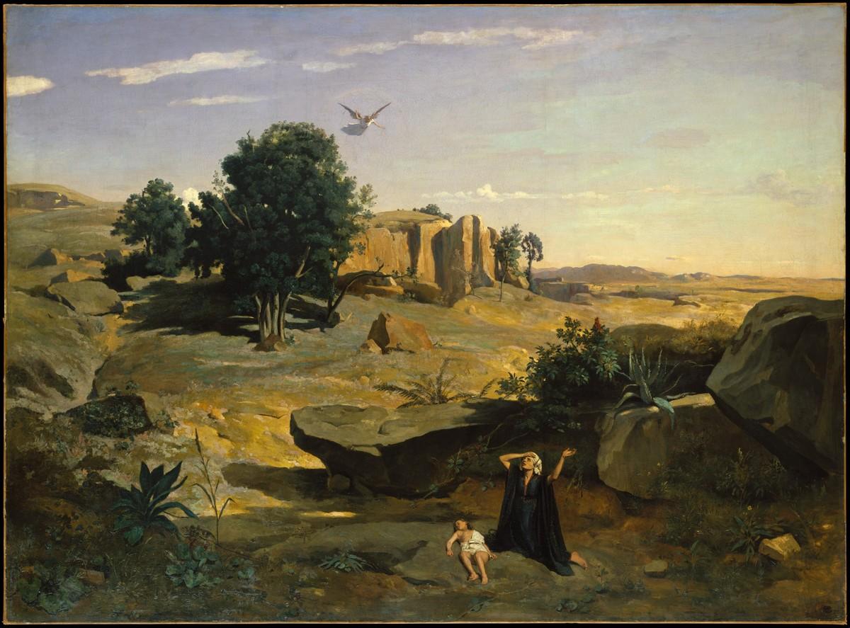 "JEAN-BAPTISTE COROT. ""Agar dans le Désert"". (1835)."