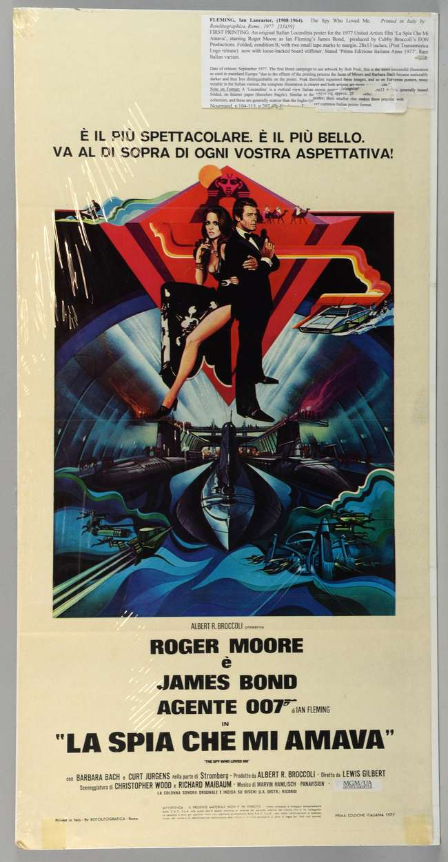 James Bond The Spy Who Loved Me (1977) Italian Locandina film poster, starring Roger Moore, MGM/UA