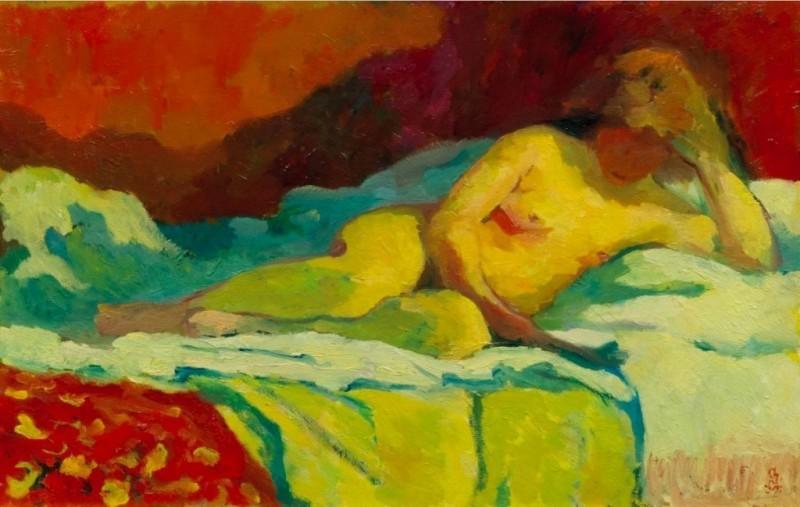 """Giovanni Giacometti, """"La Lettrice"""", 1912."""