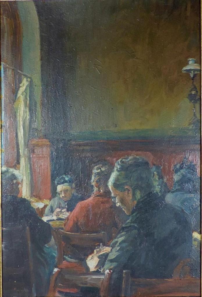 GOTTHARDT KUEHL (1850 Lübeck - 1915 Dresden) - Im Lübecker Altenheim, Öl/Karton, 48,5x32 cm Limitpreis: 3.200 EUR