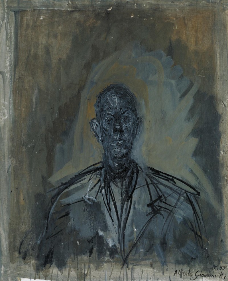 Målning av Giacometti