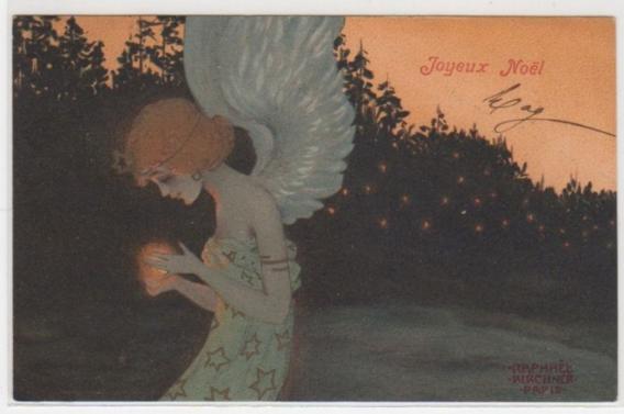 Raphaël KIRCHNER Femme-ange de Noël vers 1900 Clément Maréchal