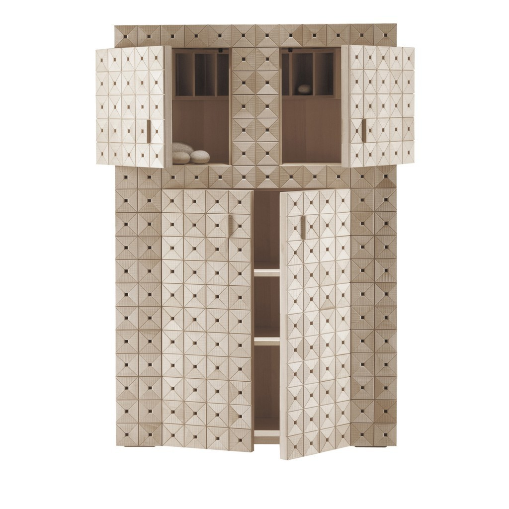 """Giuseooe Rivadossi - Cabinet """"Madia Aurina"""" made of wood and metal"""