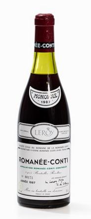 Une bouteille de Romanée-Conti, 1987 Domaine de la Romanée-Conti Auctionata