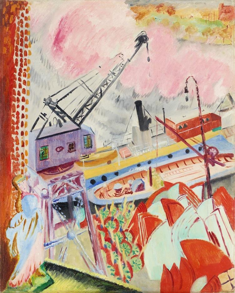 Den imponerande målningen av Sigrid Hjertén hittade tyvärr ingen ny köpare på auktion igår