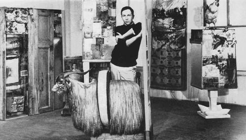 Robert Rauschenburg posing for Newsday interview, 1958