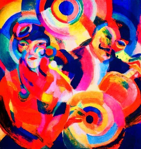 Flamenco Singer, Sonia Delaunay. 1914, oil on canvas.