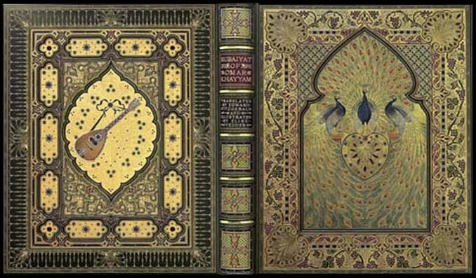 A bejeweled version of the Rubaiyat was lost in the Titanic sinking. Image: Booktryst