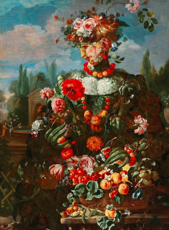 Giovanni Paolo Castelli, dit Lo Spadino Allégorie anthropomorphique du printemps