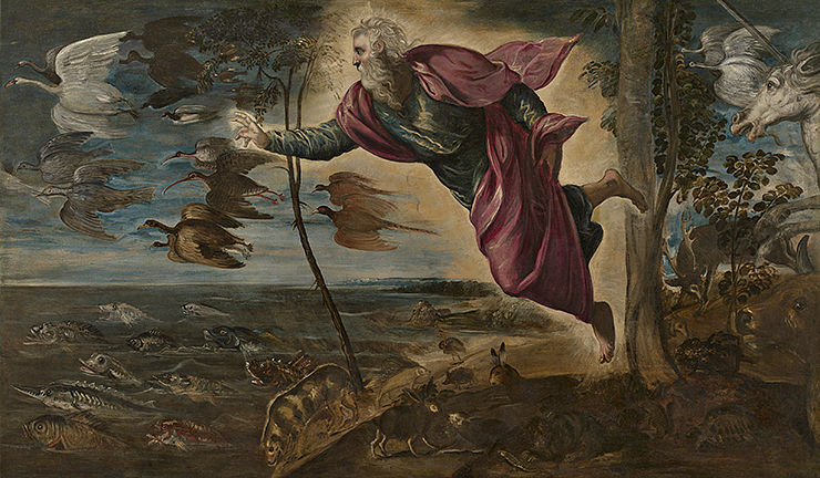 Jacopo Tintoretto, The Creation of the Animals, 1550/by 1553, oil on canvas, Gallerie dell'Accademia, Venice