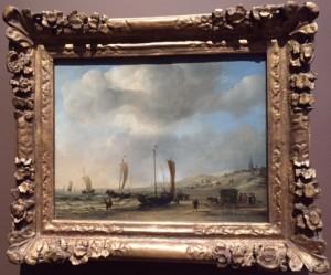 Warm glow at 'The Shore at Scheveningen', painted by both brothers van de Velde