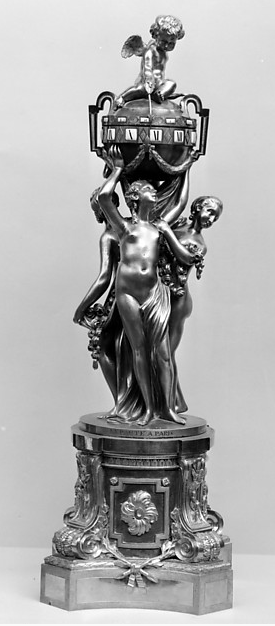 "Jean-Baptiste and Jean-André Lepaute (clockmakers) and François Vion (bronze caster) ""Three Graces"" Clock, Paris, circa 1775New York, Metropolitan Museum of Art (Rogers Fund 1941)"