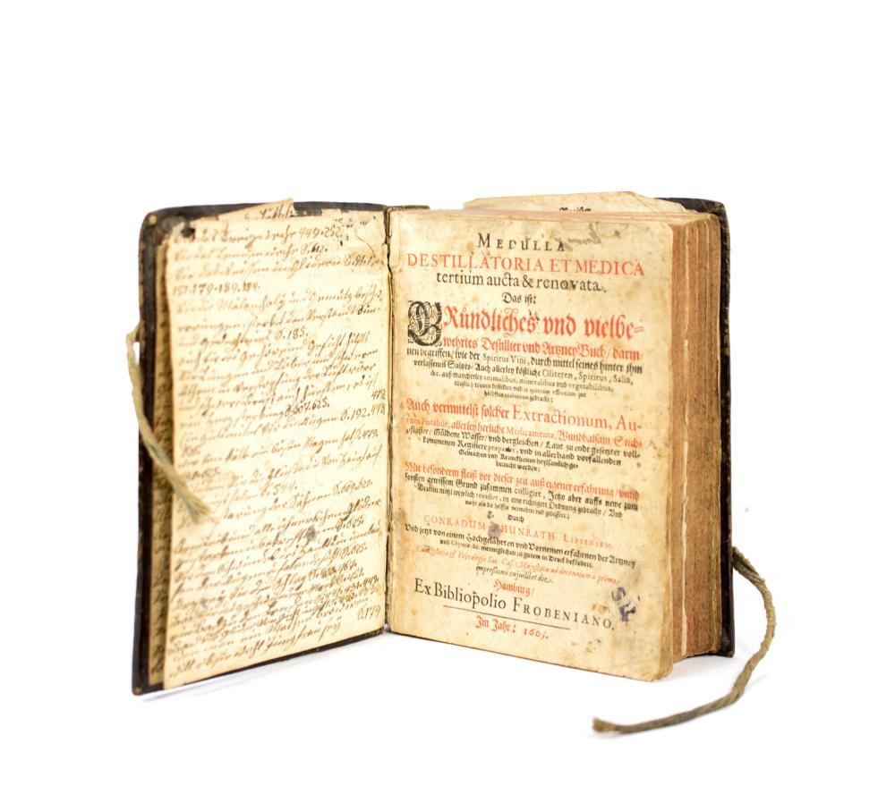 CONRAD KHUNRATH (1555-1613) - Medulla Destillatoria et Medica, 1605