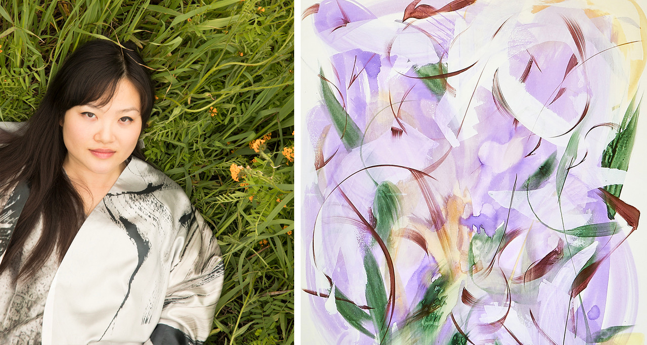 Huang Yanyan, 'Purple Poem III, 2019'. Foto: Daniel Sahlberg © T-a-c-k -!