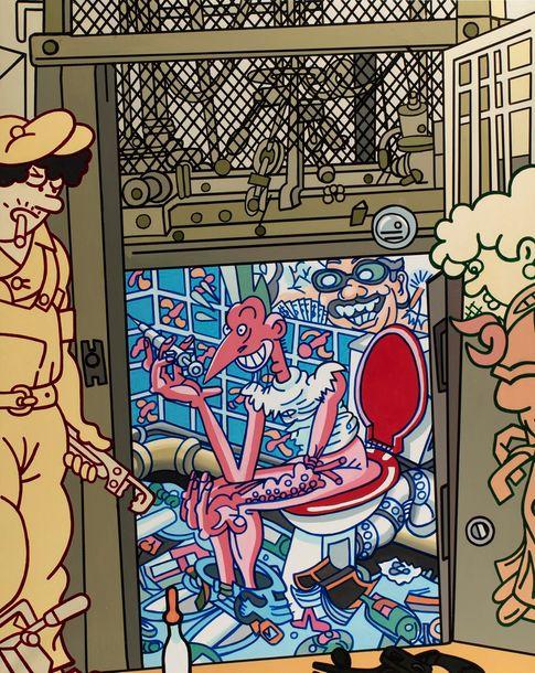 Erró, Le fils du plombier, série Target Practice, 1995-2003 image ©Rossini