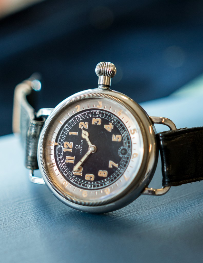 "Omega ""Pilot´s Watch"", 46mm, 1932, LOT1, Important Watches, 14/5 2016.(photo: kaplans.se)"