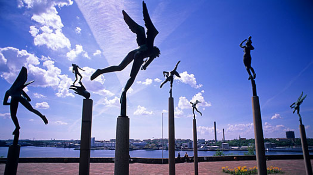 Millesgården_Carl-Milles_Olga Milles_skulptur_Skulpturpark