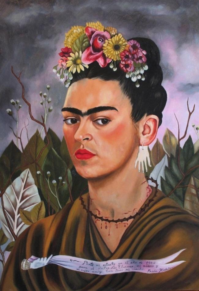 Frida Kahlo. Autorretrato, 1940. Imagen vía: Frida Kahlo Foundation