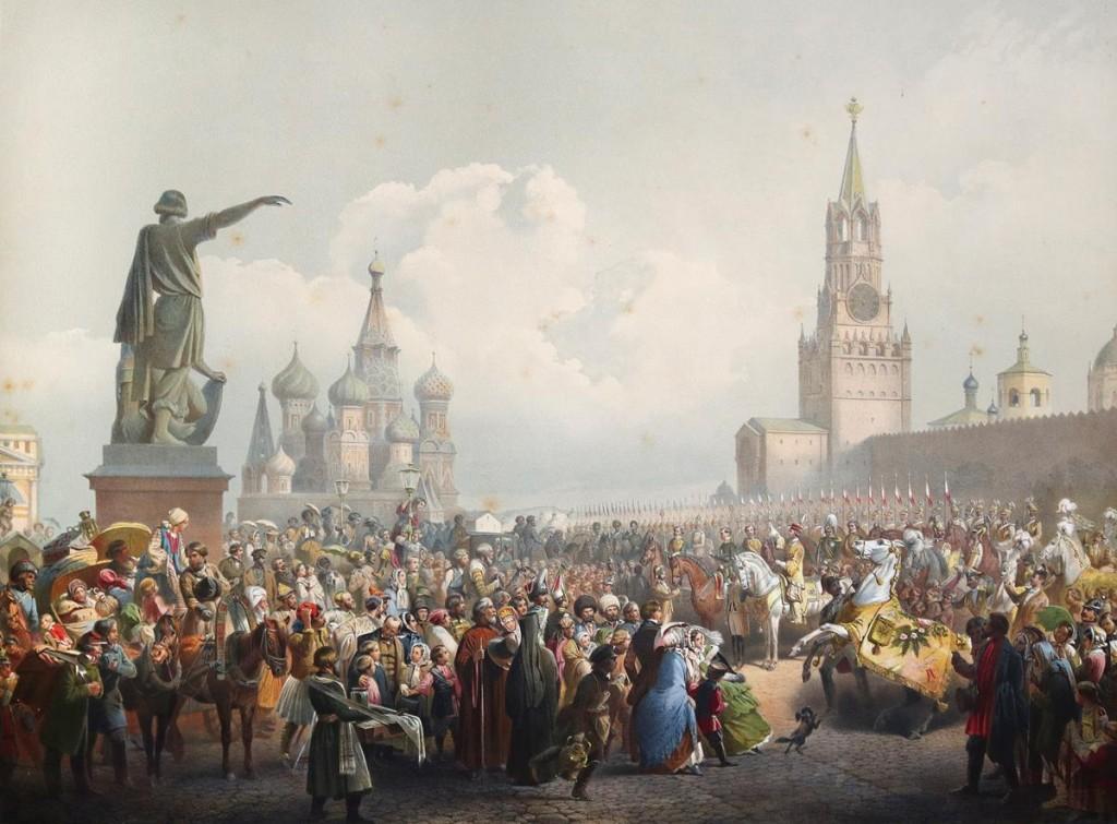 Der Einzug des Zaren in die Krönungsstadt Moskau war ein wichtiger Teil des Krönungszeremoniells