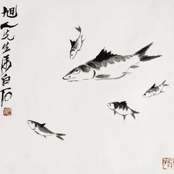 齊白石(1864-1957)FIVE FISH 圖片取自: Barnebys.hk