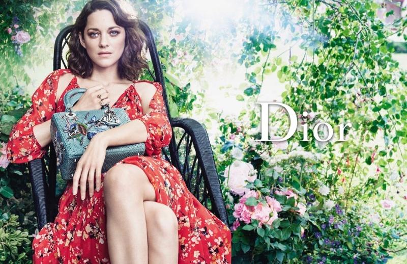 Marion Cotillard for Christian Dior with the 'Lady Dior' handbag, 2017