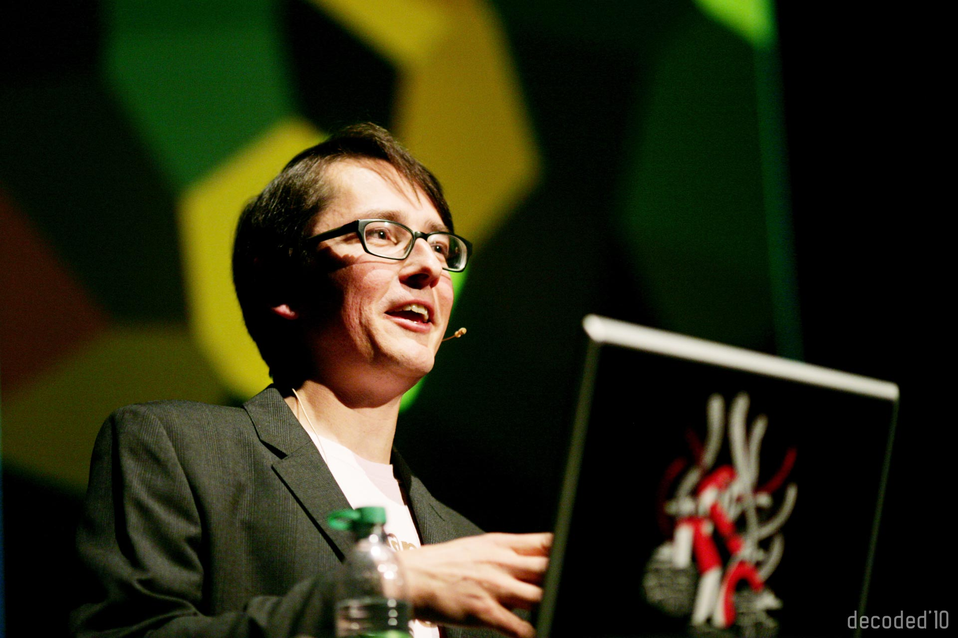 Mario Klingemann speaking at the Decoded Conference in 2010 in Munich, Germany. Image: Wikipedia
