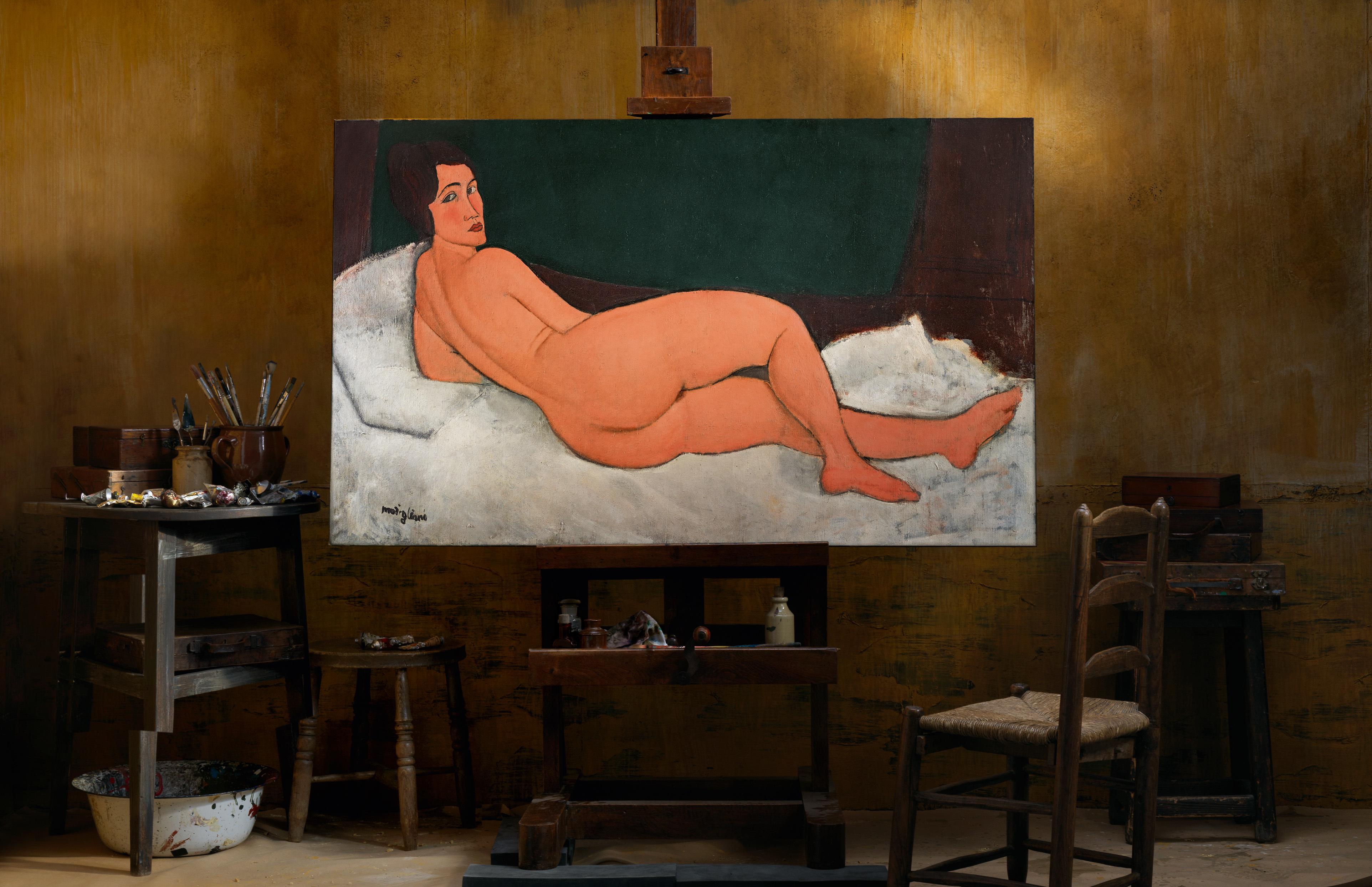 Amedeo Modiglianis, « Nu couché (sur le côté gauche) », 1917, image ©Sotheby's