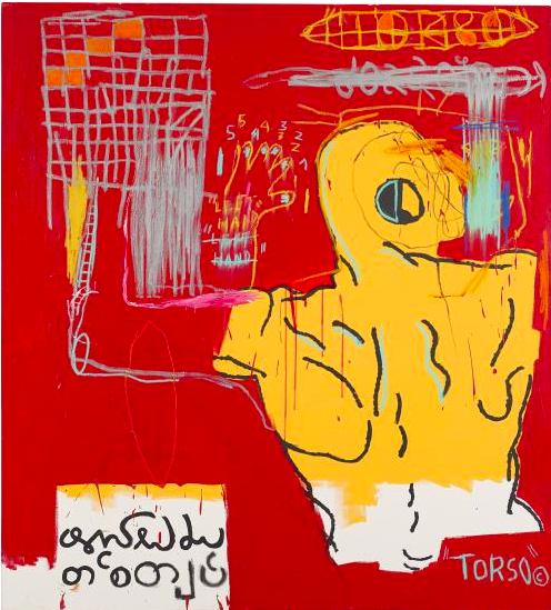 Jean-Michel Basquiat Krong Thip (Torso), 1983 Unsold