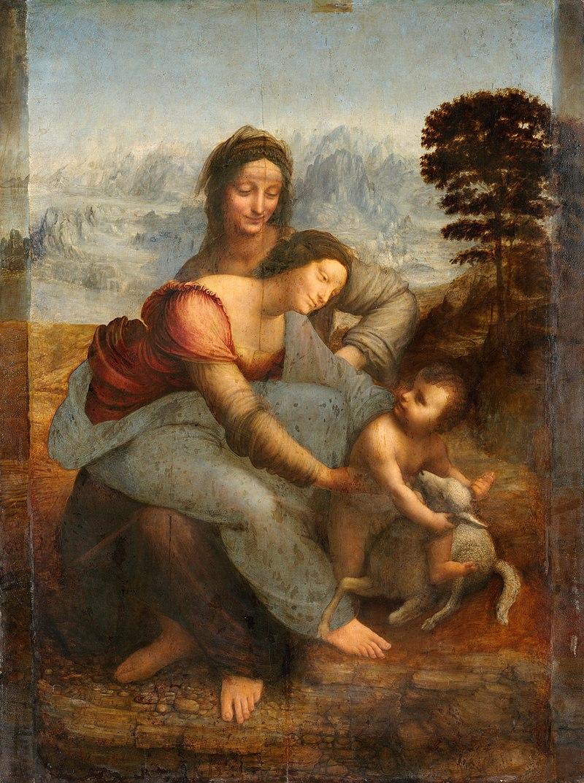 Leonardo da Vinci, Anna selbdritt, um 1509, Louvre, Paris